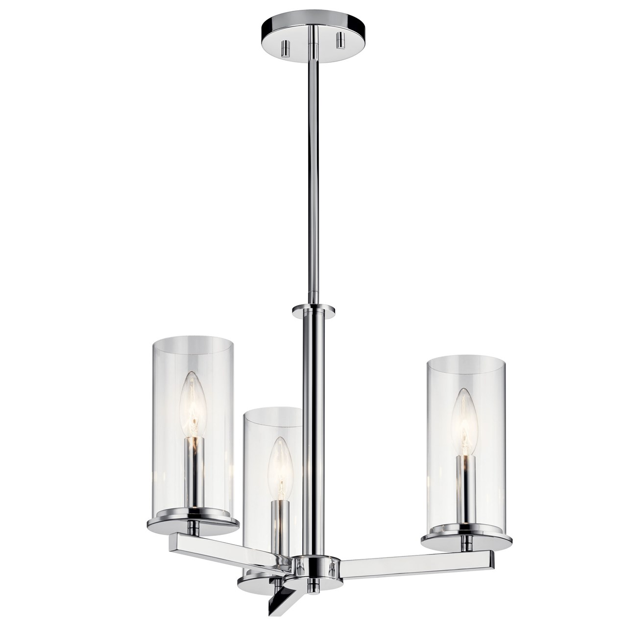 Crosby™ 3 Light Convertible Chandelier Chrome