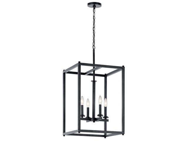Crosby 4 Light Foyer Pendant Black