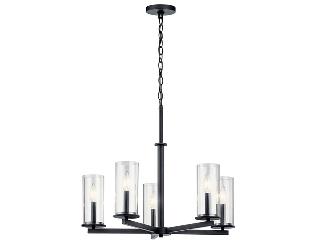 Crosby 5 Light Chandelier Black