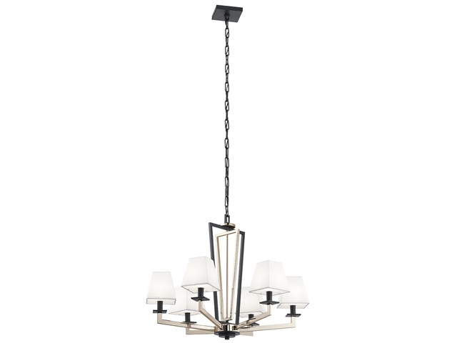 "Dancar™ 28"" 6 Light Chandelier Polished Nickel"
