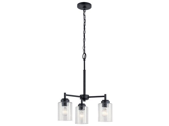 Winslow™ 3 Light Mini Chandelier Black