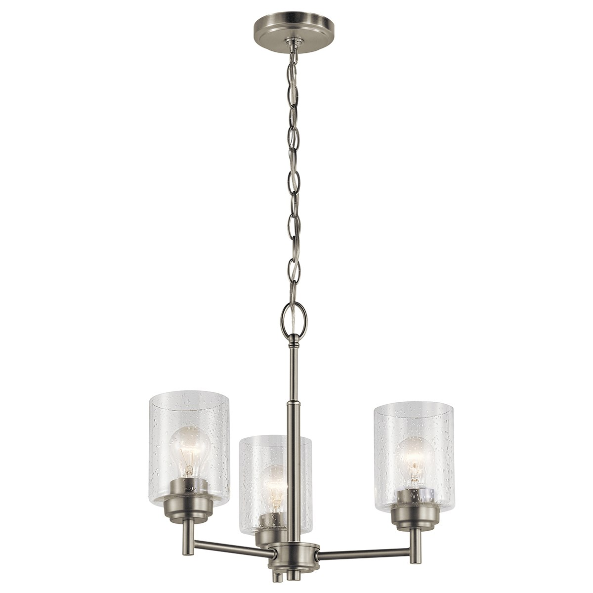Winslow™ 3 Light Mini Chandelier Brushed Nickel
