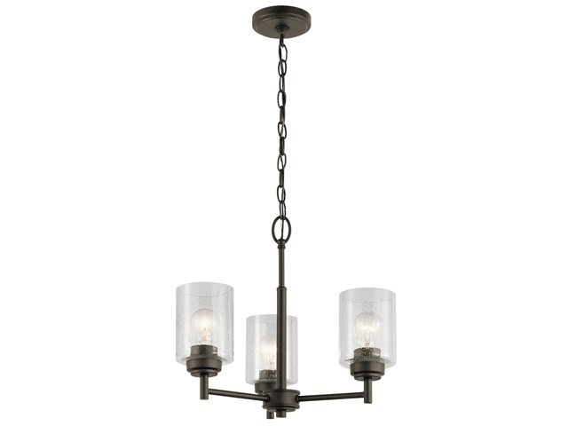 Winslow™ 3 Light Mini Chandelier Olde Bronze®