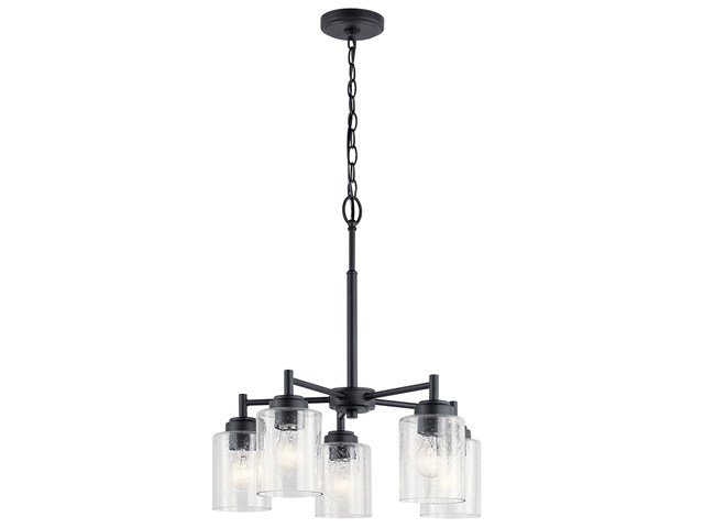 Winslow™ 5 Light Chandelier Black