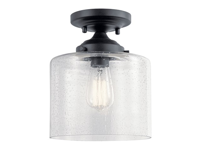 Winslow™ 1 Light Semi Flush Black