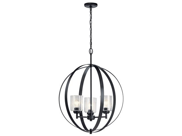 Winslow™ 3 Light Chandelier Black