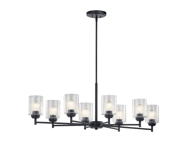 Winslow™ 8 Light Chandelier Black