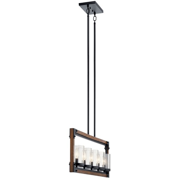 Marimount™ 5 Light Linear Chandelier Auburn Stained