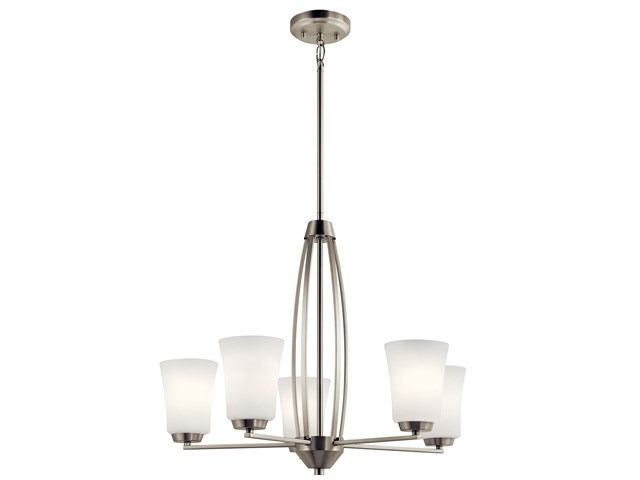 Tao 5 Light Chandelier Brushed Nickel
