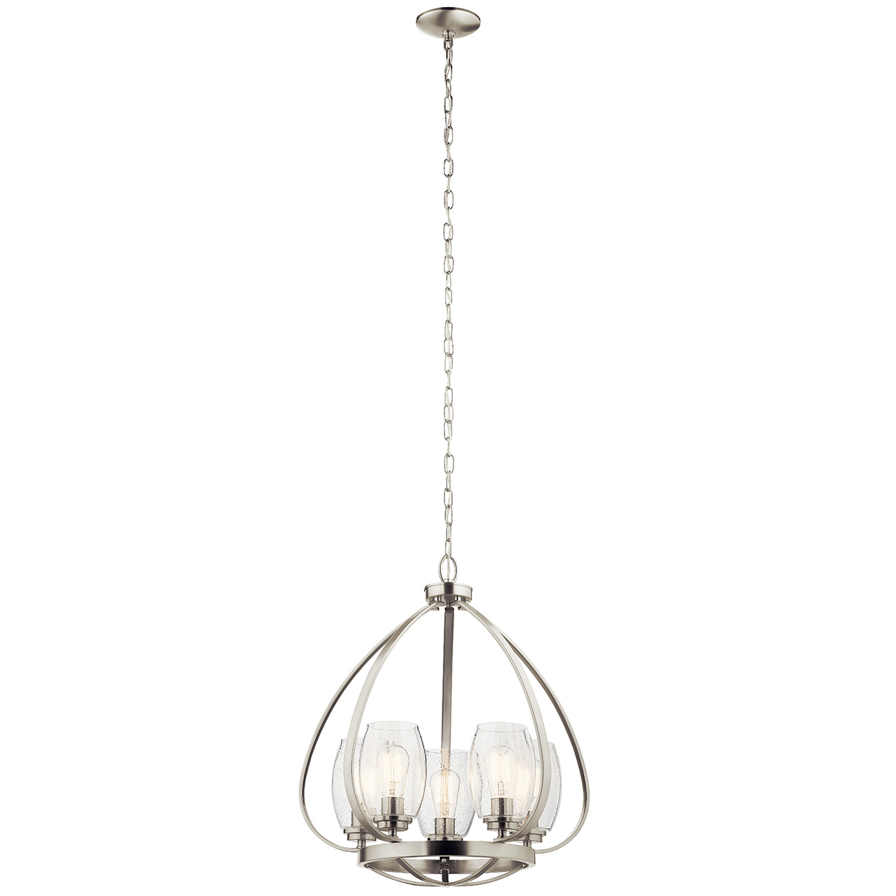 Image of: Tuscany 24 5 Light Chandelier With Clear Seeded Glass Brushed Nickel Kichler Lighting