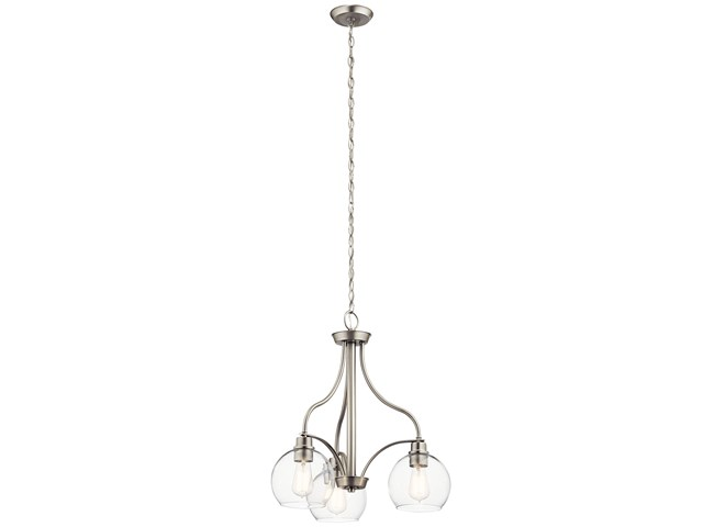 Harmony 3 Light Chandelier Brushed Nickel