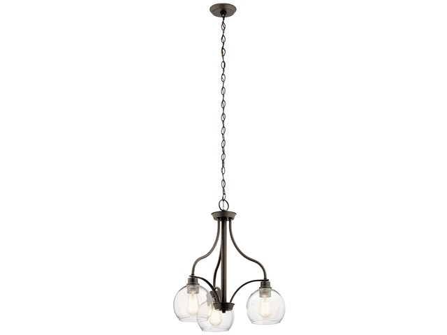 Harmony 3 Light Chandelier Olde Bronze®