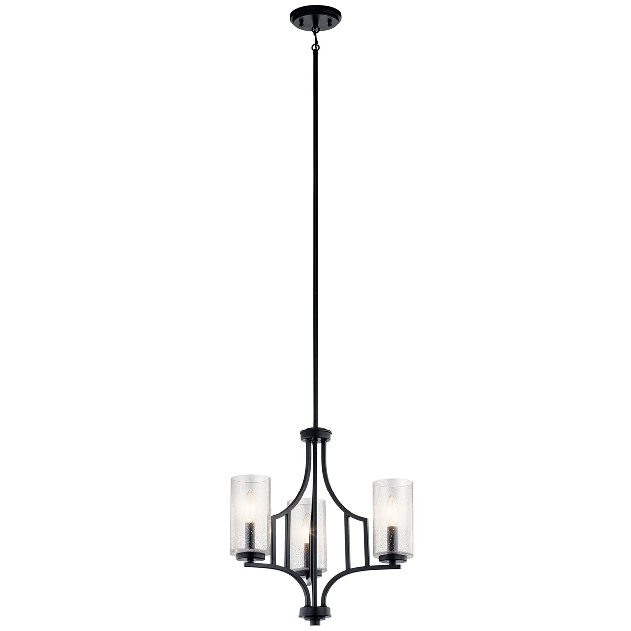Vara 3 Light Mini Chandelier Distressed Black