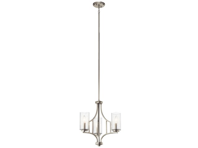 Vara 3 Light Mini Chandelier Brushed Nickel