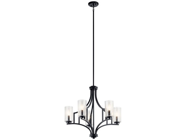 Vara 5 Light Chandelier Distressed Black
