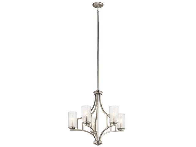 Vara 5 Light Chandelier Brushed Nickel