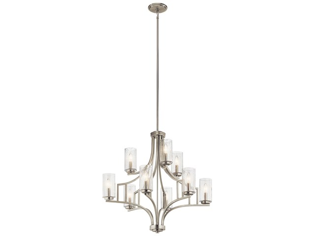 Vara 9 Light Chandelier Brushed Nickel