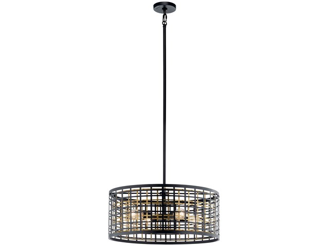 Aldergate 4 Light Chandelier Black