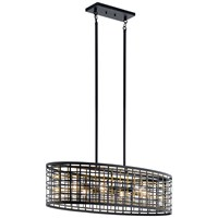 Aldergate™ 6 Light Oval Chandelier Black