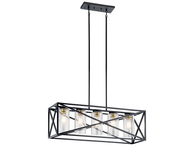 Moorgate™ 5 Light Linear Chandelier Black