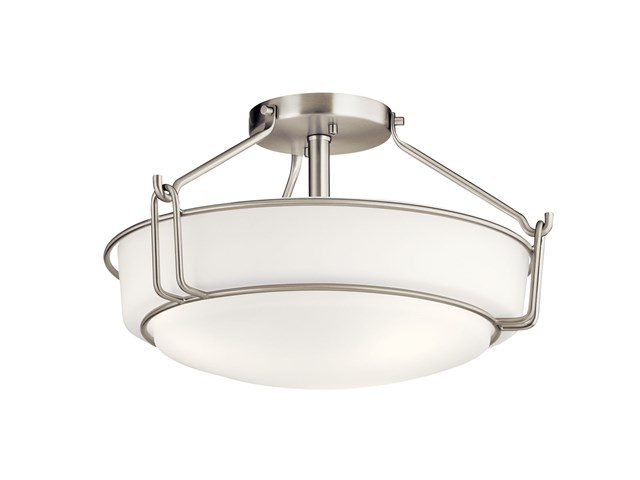 Alkire 3 Light Semi Flush Brushed Nickel