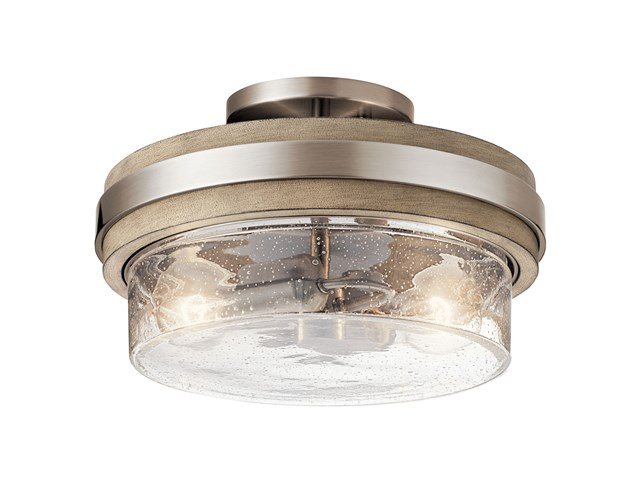 Grand Bank™ 2 Light Semi Flush Classic Pewter