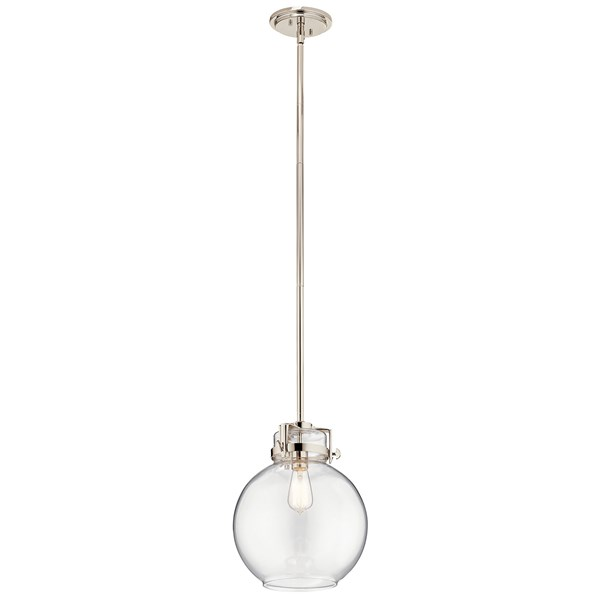 Briar 1 Light Pendant Polished Nickel