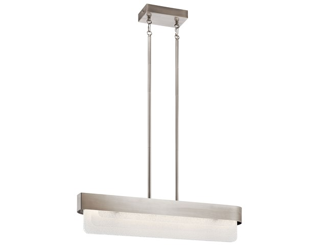 Serene LED Linear Chandelier Classic Pewter