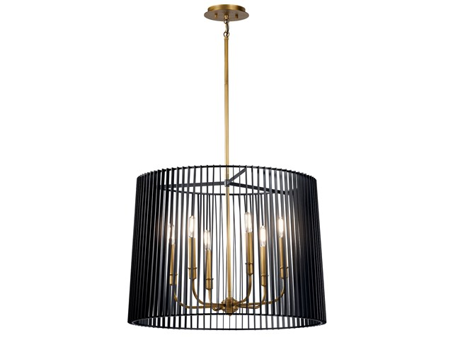 Linara 6 Light Chandelier Black