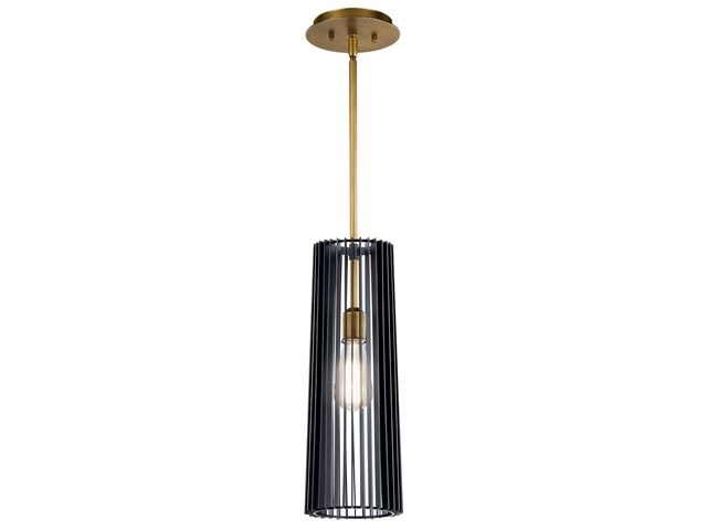 Linara 1 Light Pendant Black