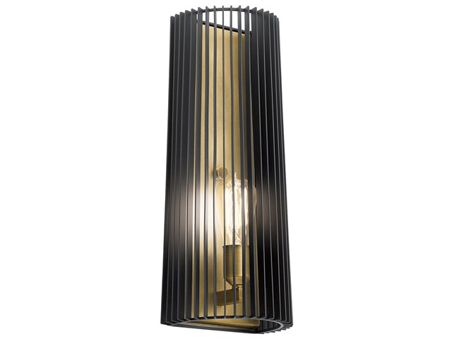 Linara 1 Light Wall Sconce Black