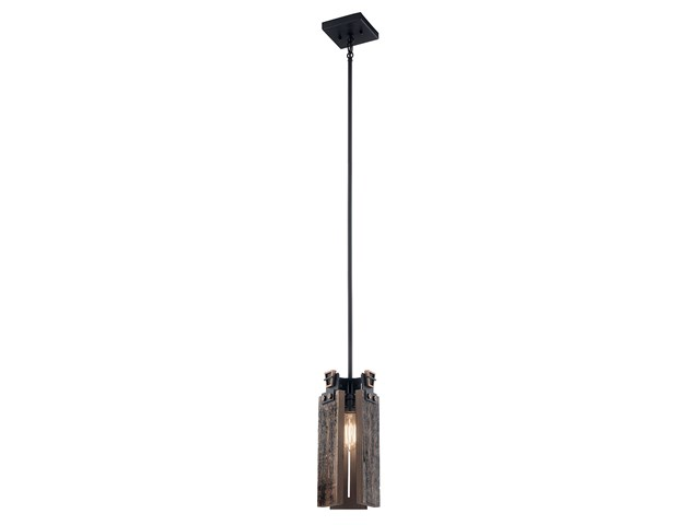"Ridgewood 14.25"" 1 Light Mini Pendant Textured Black"
