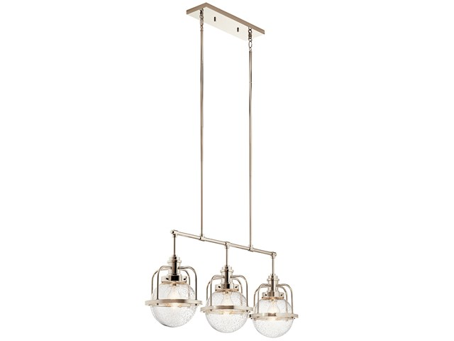 Triocent 3 Light Linear Chandelier Polished Nickel™