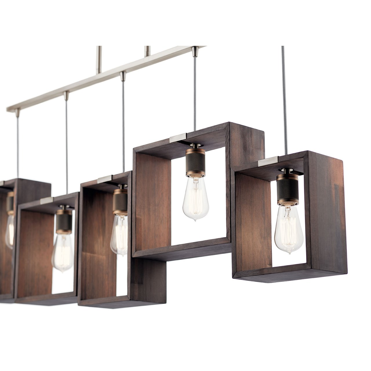 Industrial Frames™ 5 Light Linear Chandelier Classic Pewter