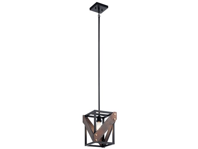 Fulton Cross™ 1 Light Pendant Black