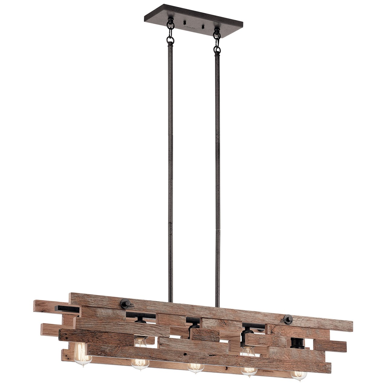 Cuyahoga Mill™ 5 Light Linear Chandelier Anvil Iron™