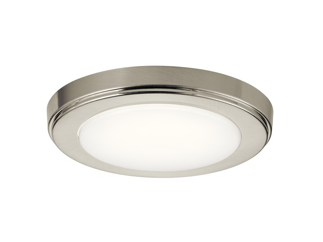 "Zeo 3000K LED 7"" Round Flush Mount Brushed Nickel"