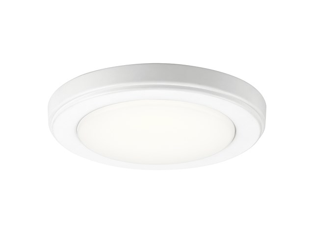 "Zeo 3000K LED 7"" Round Flush Mount White"