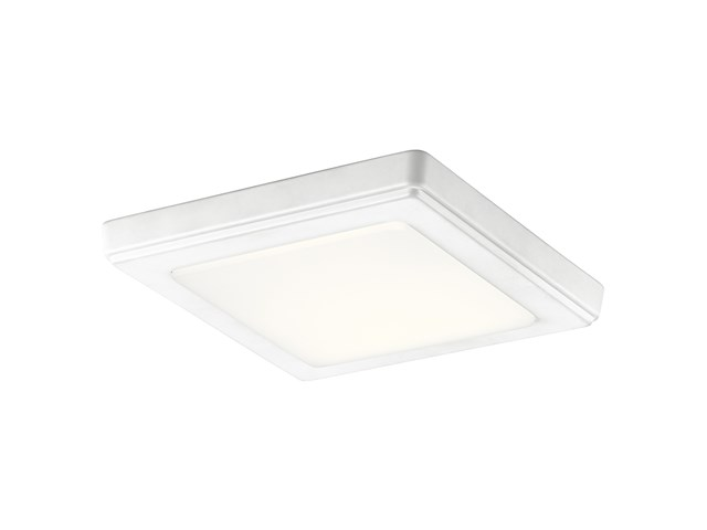 "Zeo 3000K LED 7"" Square Flush Mount White"
