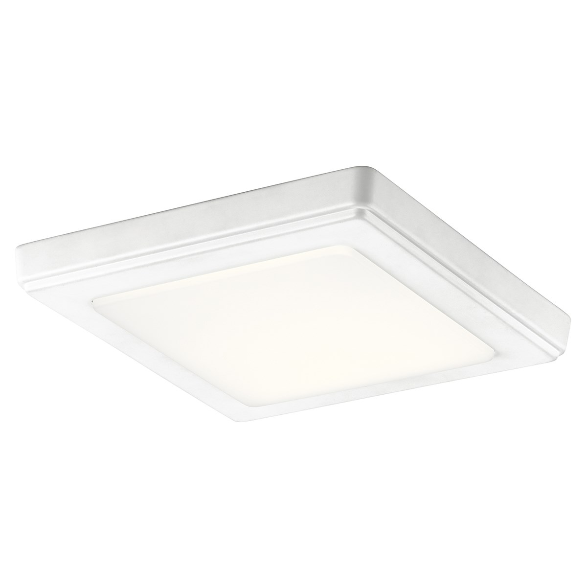 "Zeo 4000K LED 7"" Square Flush Mount White"