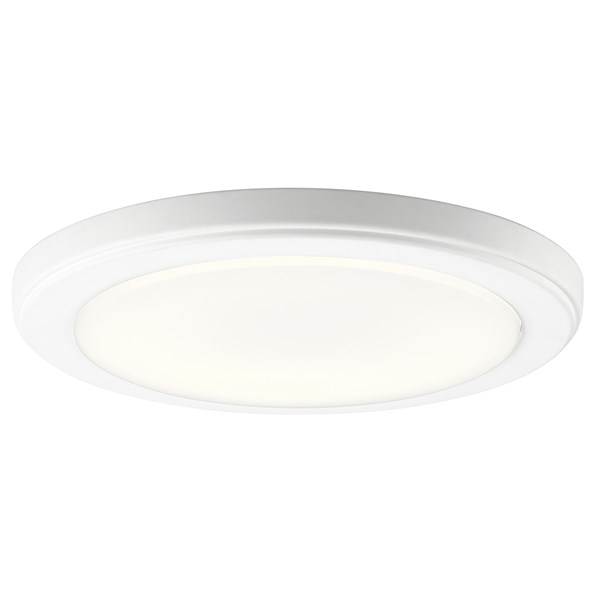 "Zeo 3000K LED 10"" Round Flush Mount White"