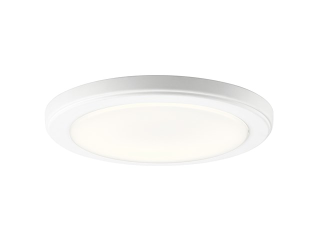 "Zeo 4000K LED 10"" Round Flush Mount White"