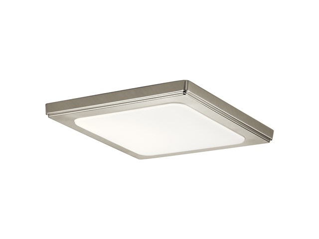"Zeo 4000K LED 10"" Square Flush Mount Brushed Nickel"