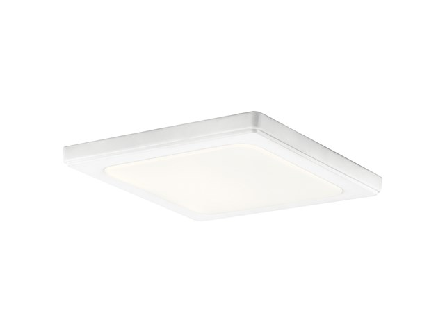"Zeo 4000K LED 10"" Square Flush Mount White"
