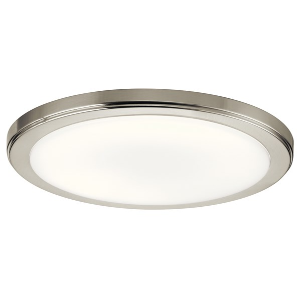 "Zeo 3000K LED 13"" Round Flush Mount Brushed Nickel"