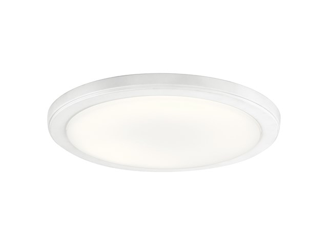 "Zeo 3000K LED 13"" Round Flush Mount White"