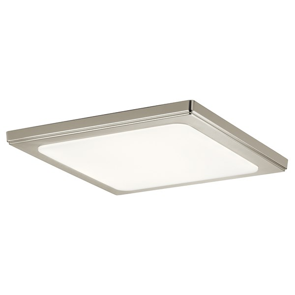 "Zeo 4000K LED 13"" Square Flush Mount Brushed Nickel"