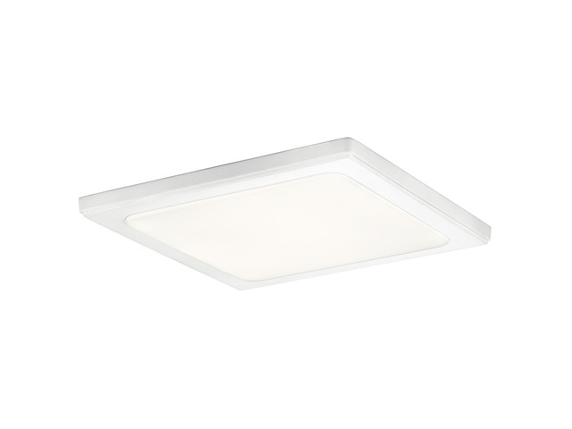 "Zeo 4000K LED 13"" Square Flush Mount White"