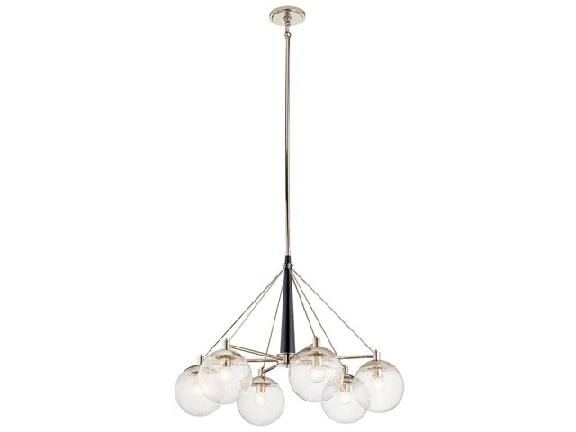 Marilyn 6 Light Chandelier Polished Nickel