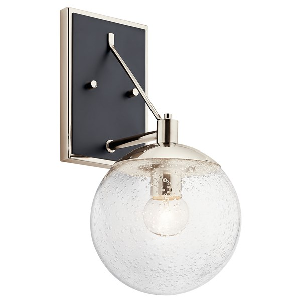 Marilyn 1 Light Wall Sconce Polished Nickel